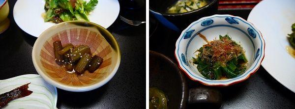 朝‐4.蕗の煮物と小松菜のおひたし.jpg